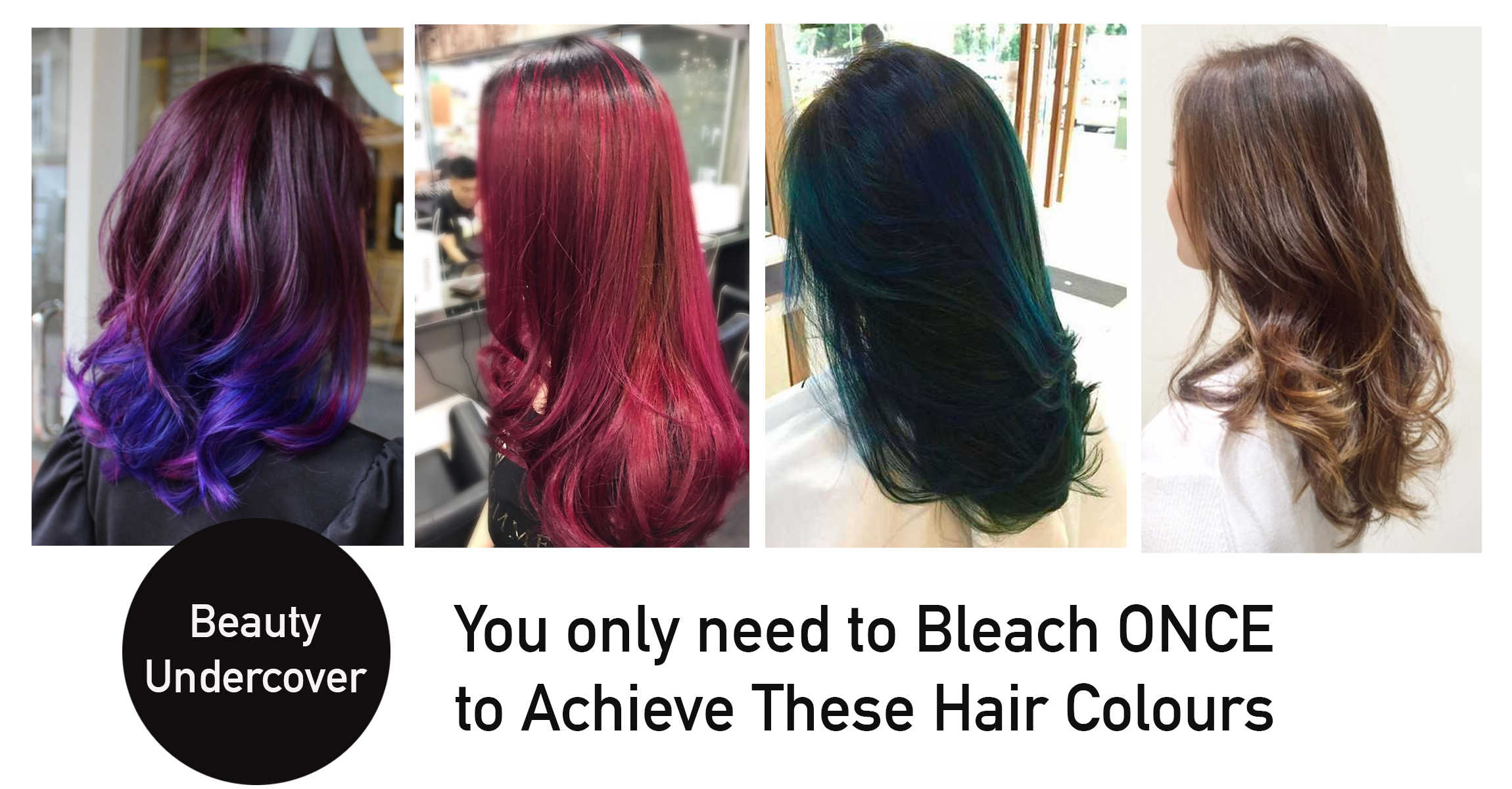 Hair Colours That Require Only One Bleach Or Prelightening