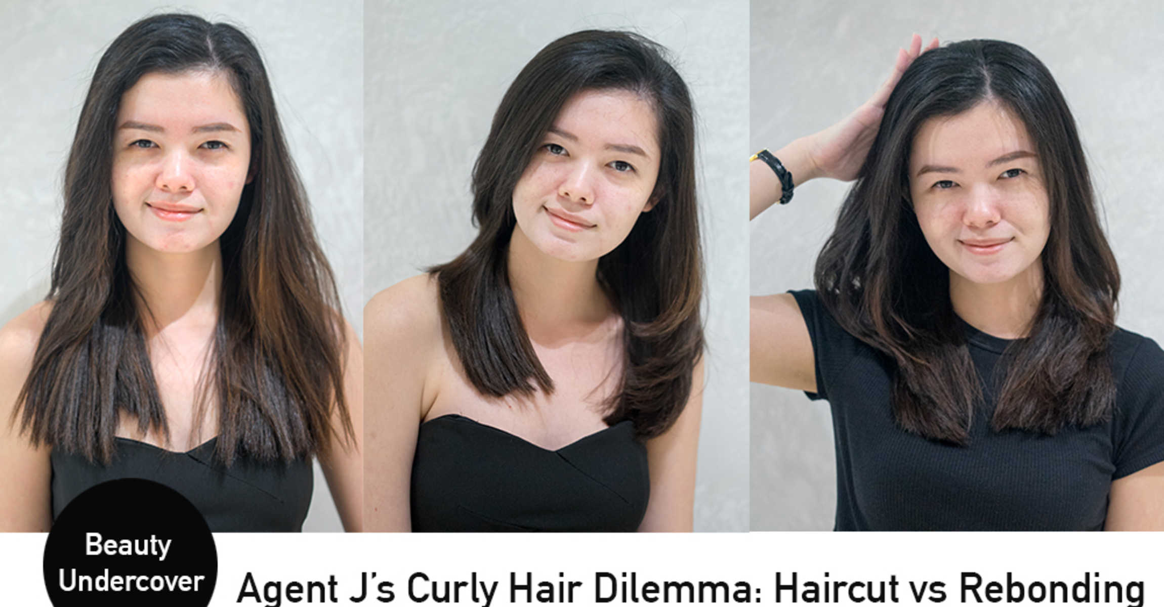 haircut vs rebonding: curly hair agent j tries both at gene by ginrich