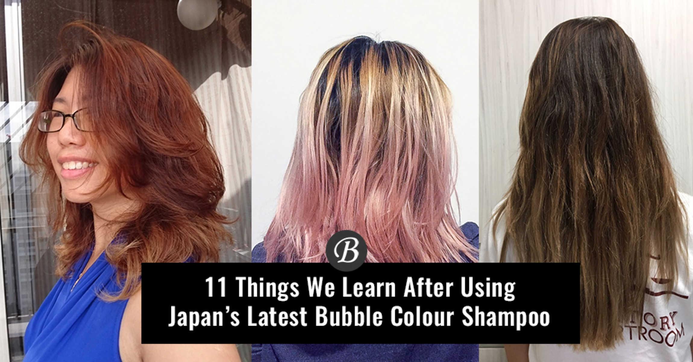 Japans Latest Bubble Colour Shampoo Can Help Your Vibrant Colour