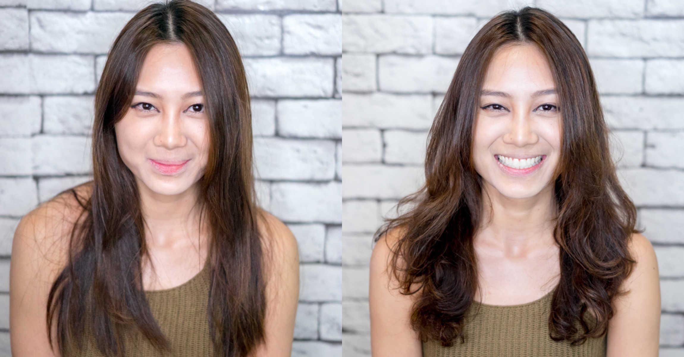 Student JT got a Korean Volume Perm on her fine hair before flying ...