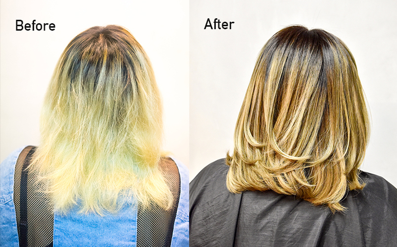 before after back - New What is the Best Hair Treatment for Bleached Hair