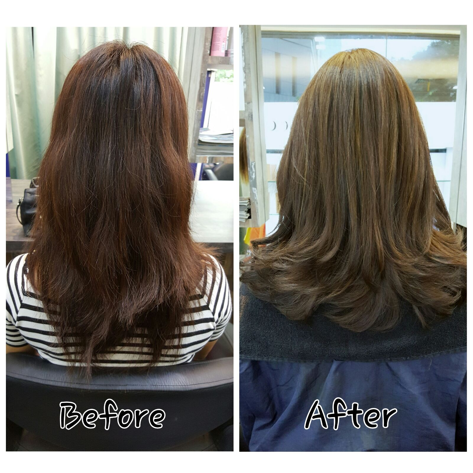 Straight perm procedure - J Curve Volume Rebonding At Focus Hairdressing
