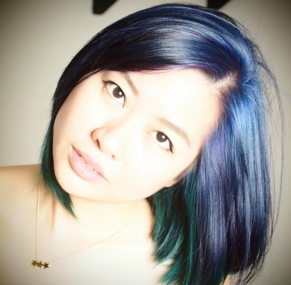 Asian hair blue