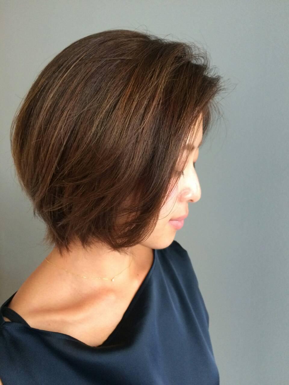 Mid length Bob + Colour (Asako)