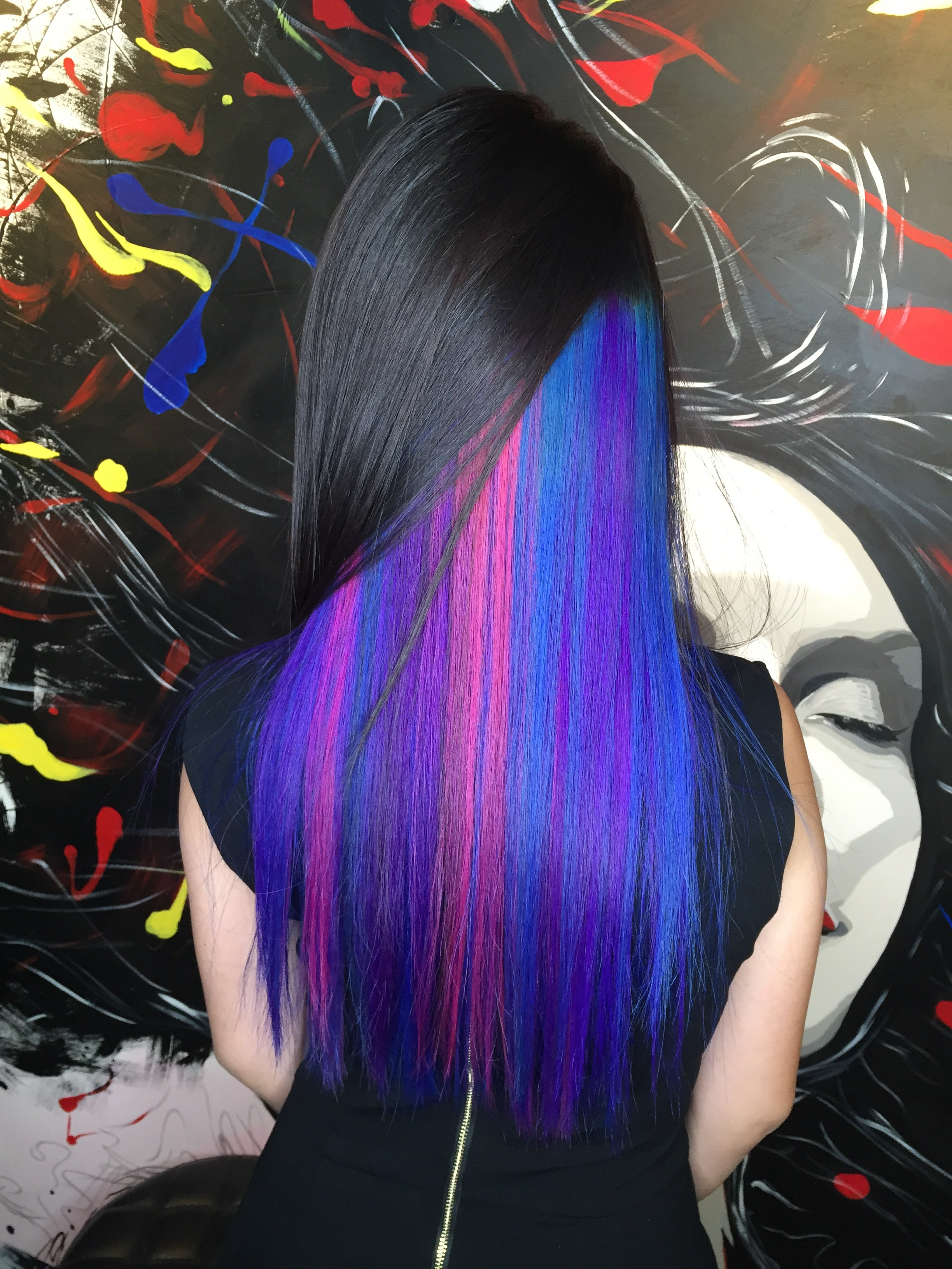 Peek A Boo Vibrant Hair Colour Designs Suitable For Work