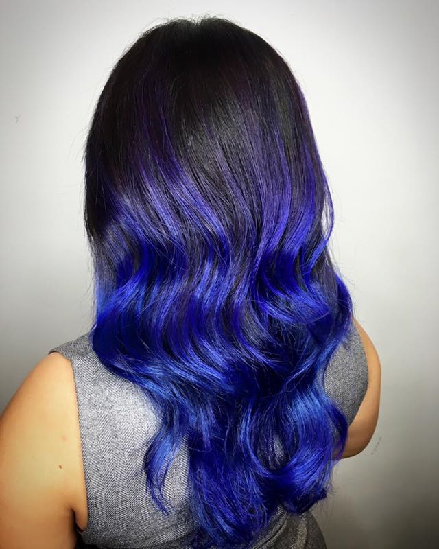 Ombre Highlight Colour Violet Blue Shinji