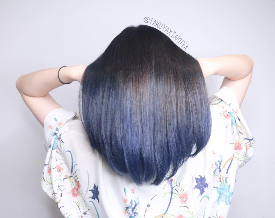 Singapores 10 top hair colour trends for 2017 ash blue ombre by cleo hair make pmusecretfo Choice Image