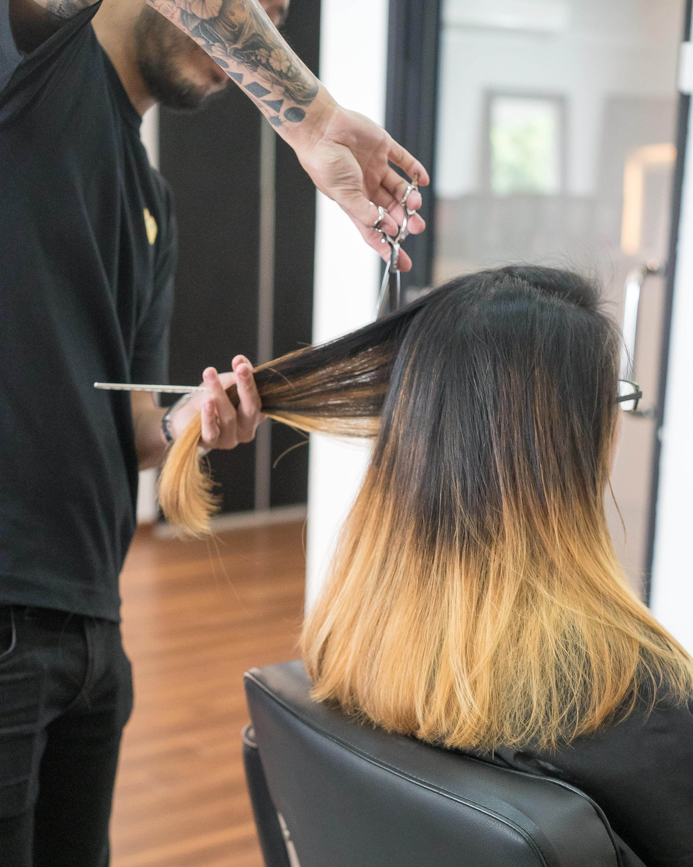 Hair Stripped Back To Natural Colour