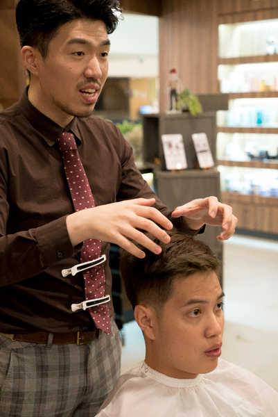 how to cut two block hair