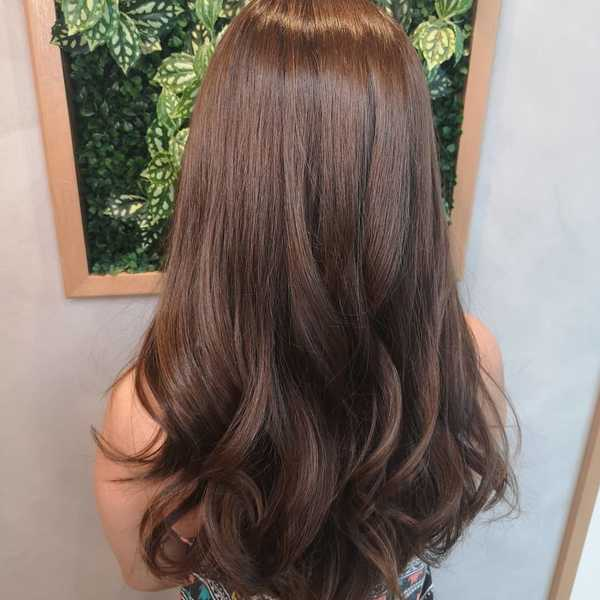"Poster 24/"" x 36/"" Smooth Light Brown Hair Salon"